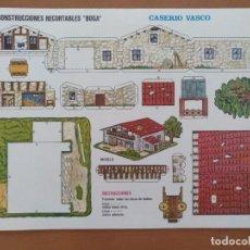 Coleccionismo Recortables: CONSTRUCCIONES RECORTABLES BOGA CASERIO VASCO. Lote 208067901