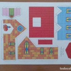 Coleccionismo Recortables: CONSTRUCCIONES RECORTABLES BABY SERIE CASAS 3 IGLESIA EDITORIAL ROMA BARCELONA. Lote 208068860