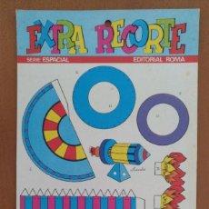 Coleccionismo Recortables: EXTRA RECORTE EDITORIAL ROMA SERIE ESPACIAL BARCELONA 1973. Lote 208068988