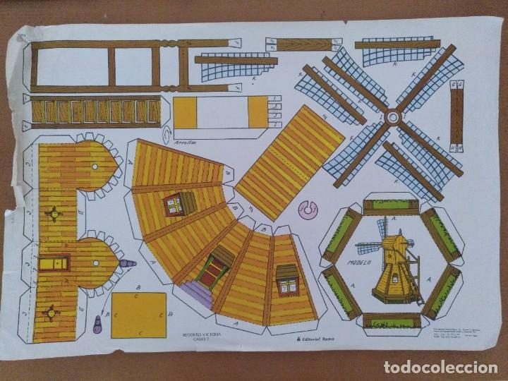 CONSTRUCCION RECORTES VICTORIA CASAS 7 MOLINO EDITORIAL ROMA BARCELONA 1977 (Coleccionismo - Recortables - Construcciones)