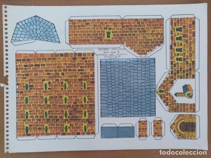 RECORTES KIKI-LOLO SERIE CASAS 2 IGLESIA EDITORIAL ROMA BARCELONA 1970 (Coleccionismo - Recortables - Construcciones)