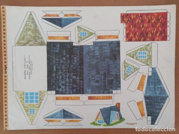 RECORTES KIKI-LOLO SERIE CASAS EDITORIAL ROMA BARCELONA 1970 DIBUJO C.BUSQUETS (Coleccionismo - Recortables - Construcciones)