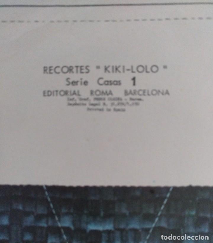 Coleccionismo Recortables: RECORTES KIKI-LOLO SERIE CASAS EDITORIAL ROMA BARCELONA 1970 DIBUJO C.BUSQUETS - Foto 2 - 208070756