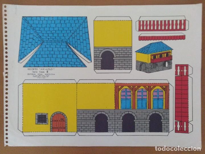RECORTES KIKI-LOLO SERIE CASAS 8 EDITORIAL ROMA BARCELONA 1970 (Coleccionismo - Recortables - Construcciones)