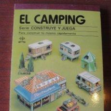 Coleccionismo Recortables: CONSTRUYE Y JUEGA EDAF / CAMPING - 1981 - STOCK DE LIBRERIA SIN USAR. Lote 208158425