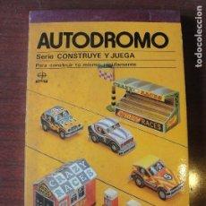 Coleccionismo Recortables: CONSTRUYE Y JUEGA EDAF / AUTODROMO - 1981 - STOCK DE TIENDA. Lote 208158961
