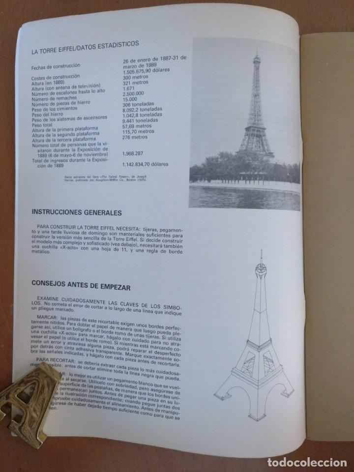 Coleccionismo Recortables: RECORTABLE SUPER MAQUETA LA TORRE EIFFEL EDITORIAL EDAF 1981 - Foto 3 - 209594173