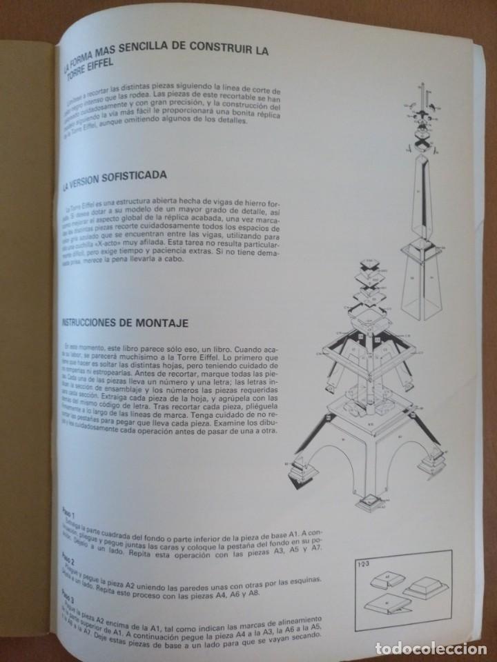 Coleccionismo Recortables: RECORTABLE SUPER MAQUETA LA TORRE EIFFEL EDITORIAL EDAF 1981 - Foto 7 - 209594173