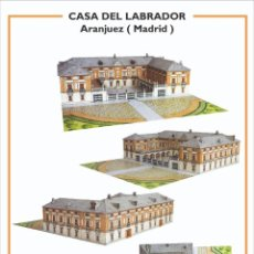 """Colecionismo Recortáveis: MAQUETA RECORTABLE """" CASA DEL LABRADOR """" ( ARANJUEZ - MADRID ). Lote 210156880"""