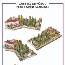 """Colecionismo Recortáveis: MAQUETA RECORTABLE DEL """" CASTELL DE PÚBOL """" EN GIRONA. Lote 210156926"""