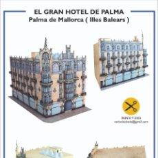 """Colecionismo Recortáveis: MAQUETA RECORTABLE DEL """" GRAN HOTEL """" DE PALMA DE MALLORCA. Lote 210157306"""