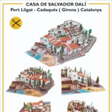 Colecionismo Recortáveis: MAQUETA RECORTABLE DE LA CASA DE DALÍ EN PORT LLIGAT ( CADAQUÉS-GIRONA). Lote 210157415