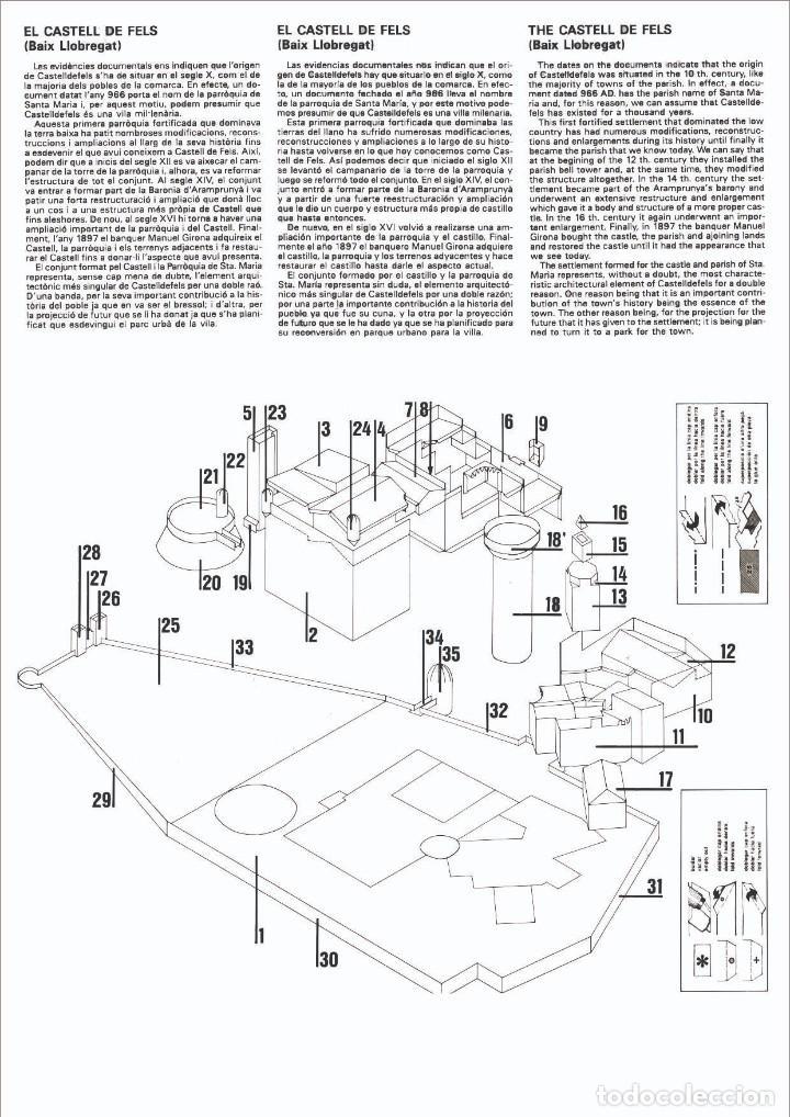 "Coleccionismo Recortables: MAQUETA RECORTABLE DEL "" CASTELL DE CASTELLDEFELS "" ( Barcelona ) - Foto 2 - 231418190"