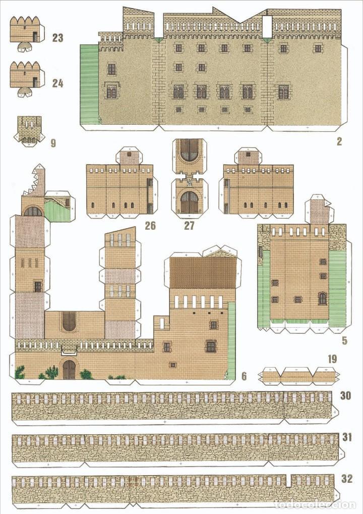 "Coleccionismo Recortables: MAQUETA RECORTABLE DEL "" CASTELL DE CASTELLDEFELS "" ( Barcelona ) - Foto 3 - 231418190"