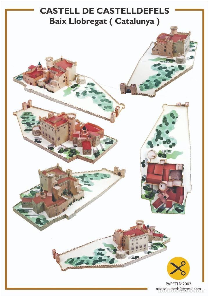 "MAQUETA RECORTABLE DEL "" CASTELL DE CASTELLDEFELS "" ( BARCELONA ) (Coleccionismo - Recortables - Construcciones)"