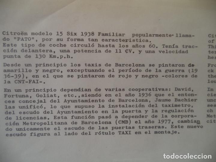 Coleccionismo Recortables: MAQUETA TAXI LA CIUDAD DE PAPEL 45X34 CM - Foto 2 - 211765873