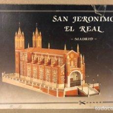 Coleccionismo Recortables: IGLESIA DE SAN JERÓNIMO EL REAL. RECORTABLE ESCALA 1:160. EDITADO EN 1989.. Lote 211832218