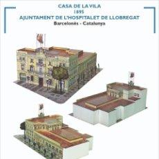 Collectionnisme Images à Découper: MAQUETA RECORTABLE DEL AJUNTAMEN DE L'HOSPITALET DE LLOBREGAT. Lote 211930480