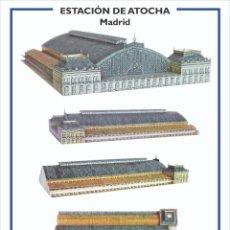 Collectionnisme Images à Découper: MAQUETA RECORTABLE DE LA ESTACIÓN DE ATOCHA ( MADRID). Lote 211931127