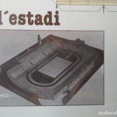 Coleccionismo Recortables: MAQUETA RECORTABLE ESTADI DE MONTJUIC 50X35 CM. Lote 212076837