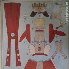 Coleccionismo Recortables: RECORTABLE ELS GEGANTS DE LA CIUTAT LAMINAS 49X35 CM. Lote 212758505