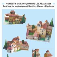 """Colecionismo Recortáveis: MAQUETA RECORTABLE DEL MONASTERIO DE """" SANT JOAN DE LES ABADESSES """" RIPOLLÈS- GIRONA. Lote 285168663"""