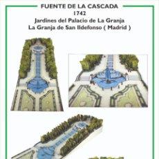 Collectionnisme Images à Découper: MAQUETA RECORTABLE DE LA FUENTE DE LA CASCADA ( LA GRANJA DE SAN ILDEFONSO)MADRID. Lote 213148506