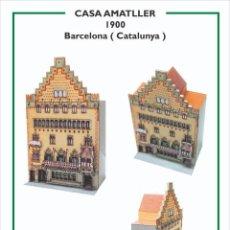 Collectionnisme Images à Découper: MAQUETA RECORTABLE DE LA CASA AMATLLER ( BARCELONA)PUIG I CADAFALCH. Lote 213156628