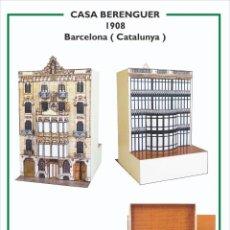 Collectionnisme Images à Découper: MAQUETA RECORTABLE DE LA CASA BERENGUER ( BARCELONA). Lote 213156798