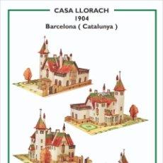 Collectionnisme Images à Découper: MAQUETA RECORTABLE DE LA CASA LLORACH ( BARCELONA) PUIG I CADAFALCH. Lote 213156911