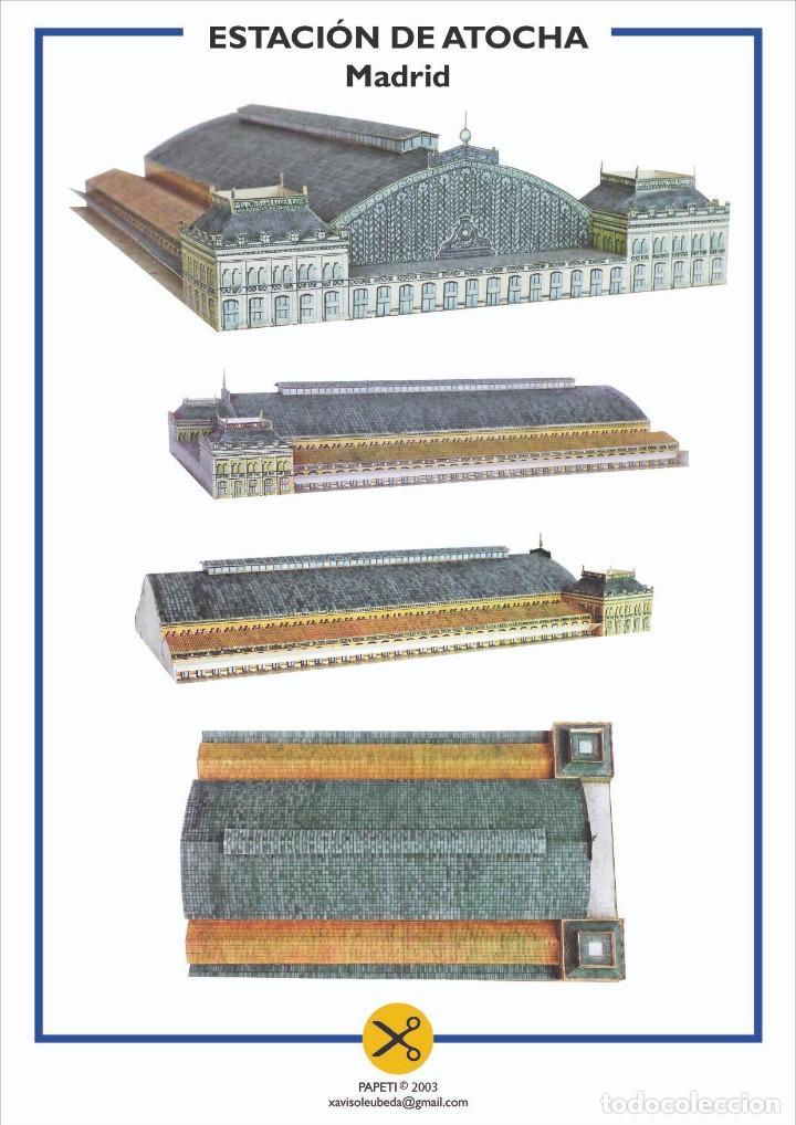 MAQUETA RECORTABLE DE LA ESTACIÓN DE ATOCHA ( MADRID) (Coleccionismo - Recortables - Construcciones)
