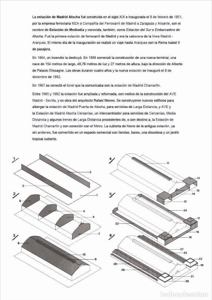 Coleccionismo Recortables: MAQUETA RECORTABLE DE LA ESTACIÓN DE ATOCHA ( MADRID) - Foto 2 - 257557515