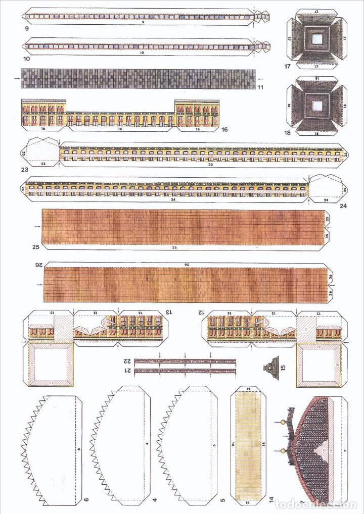 Coleccionismo Recortables: MAQUETA RECORTABLE DE LA ESTACIÓN DE ATOCHA ( MADRID) - Foto 3 - 257557515