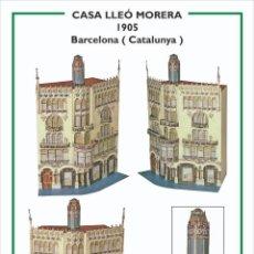 Collectionnisme Images à Découper: MAQUETA RECORTABLE DE LA CASA LLEÓ MORERA ( BARCELONA) DOMENECH I MONTANER. Lote 213202927