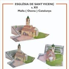 Collectionnisme Images à Découper: MAQUETA RECORTABLE DE LA IGLESIA DE SANT VICENÇ DE MALLA ( OSONA) CATALUNYA. Lote 213203047