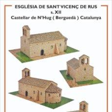 Collectionnisme Images à Découper: MAQUETA RECORTABLE DE LA IGLESIA DE SANT VICENÇ DE RUS ( CASTELLAR DE N'HUG)CATALUNYA. Lote 213203121