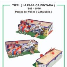 Collectionnisme Images à Découper: MAQUETA RECORTABLE DE LA FÁBRICA PINTADA-TIPEL ( PARETS DEL VALLÈS) CATALUNYA. Lote 213203273