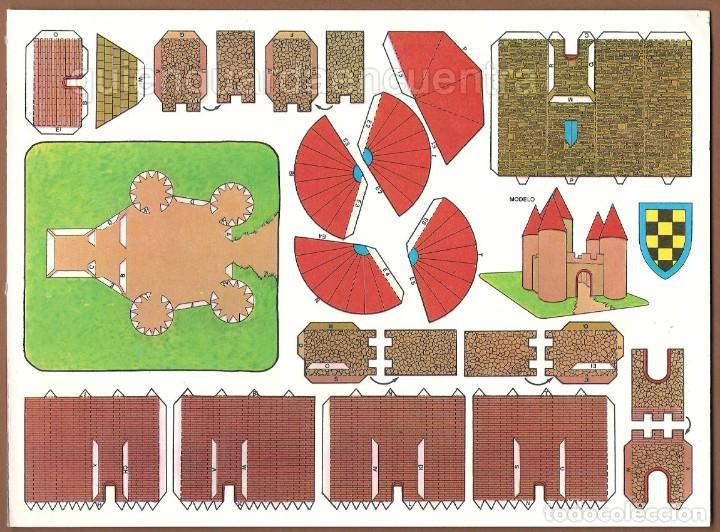 Coleccionismo Recortables: Castillos para construir recortables, años 70-80 manualidades 6 modelos. - Foto 2 - 44183393