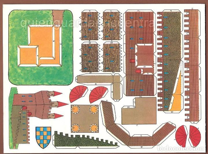 Coleccionismo Recortables: Castillos para construir recortables, años 70-80 manualidades 6 modelos. - Foto 3 - 44183393