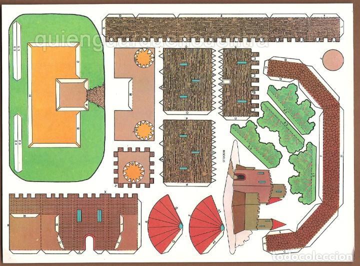 Coleccionismo Recortables: Castillos para construir recortables, años 70-80 manualidades 6 modelos. - Foto 4 - 44183393