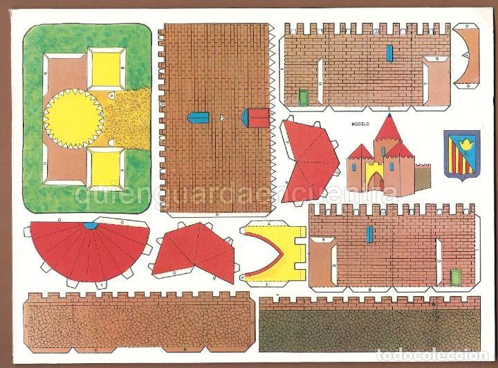 Coleccionismo Recortables: Castillos para construir recortables, años 70-80 manualidades 6 modelos. - Foto 5 - 44183393
