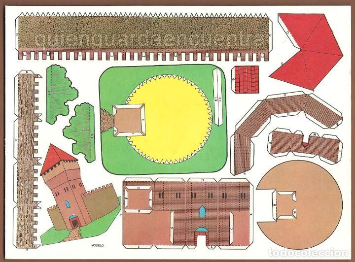 Coleccionismo Recortables: Castillos para construir recortables, años 70-80 manualidades 6 modelos. - Foto 6 - 44183393