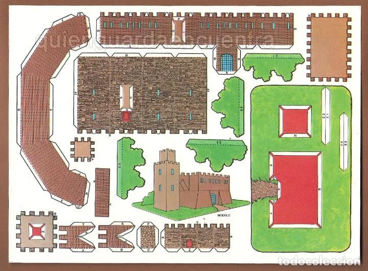 CASTILLOS PARA CONSTRUIR RECORTABLES, AÑOS 70-80 MANUALIDADES 6 MODELOS. (Coleccionismo - Recortables - Construcciones)