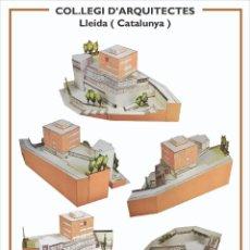Coleccionismo Recortables: MAQUETA RECORTABLE DEL COLEGIO DE ARQUITECTOS DE LLEIDA. Lote 252698935
