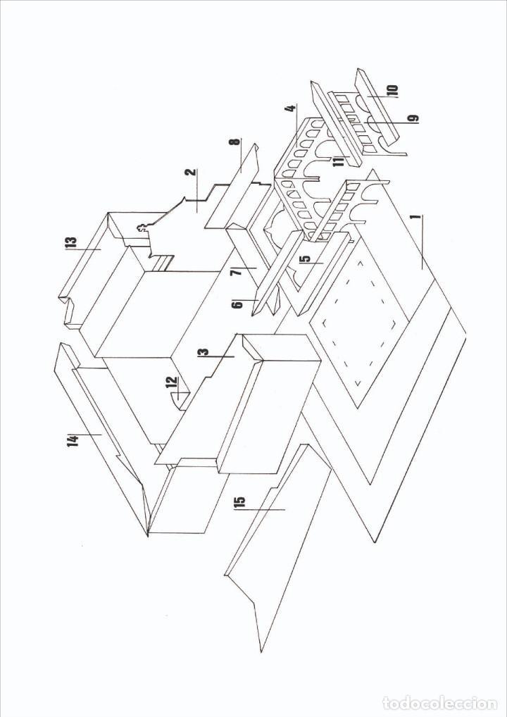 "Coleccionismo Recortables: MAQUETA RECORTABLE DEL ""PATI MANNING"" ( BARCELONA)Antiguo seminario conciliar - Foto 2 - 213692436"