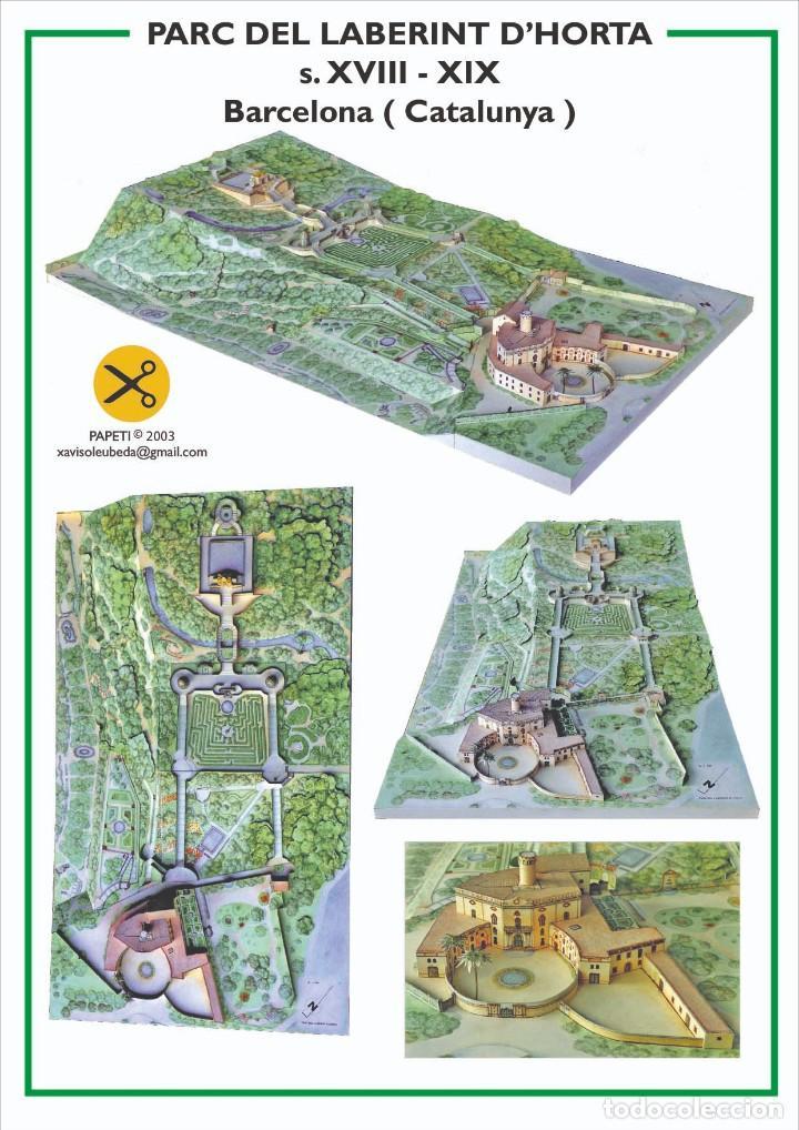 MAQUETA RECORTABLE DEL PARQUE DEL LABERINTO ( BARCELONA) (Coleccionismo - Recortables - Construcciones)