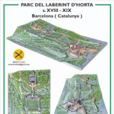 Coleccionismo Recortables: MAQUETA RECORTABLE DEL PARQUE DEL LABERINTO ( BARCELONA). Lote 255636475