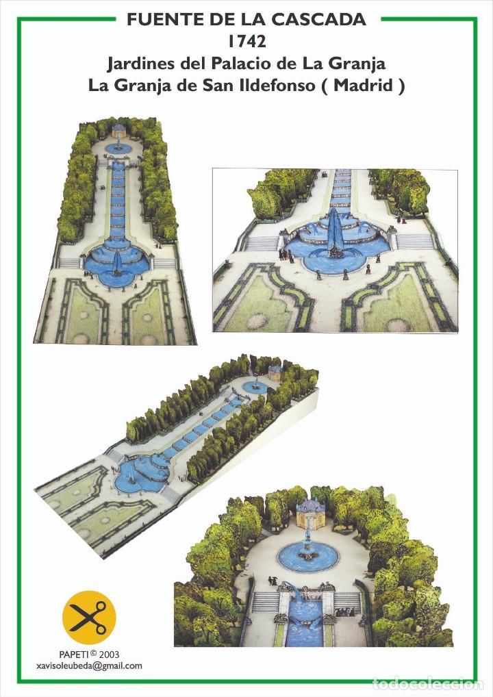MAQUETA RECORTABLE DE LA FUENTE DE LA CASCADA ( LA GRANJA DE SAN ILDEFONSO)MADRID (Coleccionismo - Recortables - Construcciones)