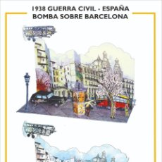 Coleccionismo Recortables: MAQUETA RECORTABLE GUERRA CIVIL ESPAÑOLA. BARCELONA. Lote 294462703