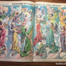 Coleccionismo Recortables: DECORACIONES DE TEATRO BASTIDORES DE GLORIA APOTEOSIS N 1054 PALUZIE. Lote 214649961